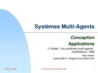 Syst�mes Multi-Agents