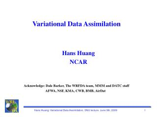 Variational Data Assimilation