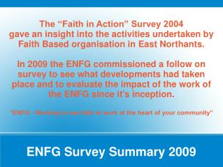 ENFG Survey Summary 2009