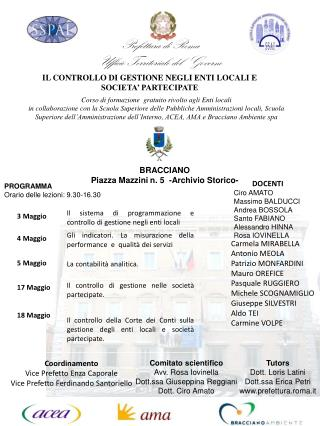 Prefettura di Roma Ufficio Territoriale del  Governo