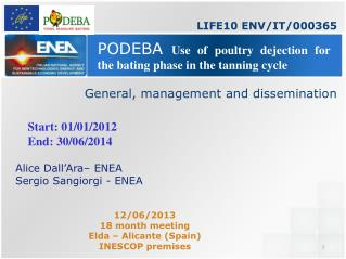 PODEBA  Use of poultry dejection for the bating phase in the tanning cycle