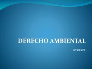 DERECHO AMBIENTAL PROFESOR