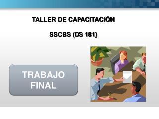 TALLER DE CAPACITACIÓN SSCBS (DS 181)