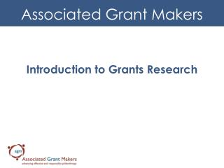 Introduction to Grants Research