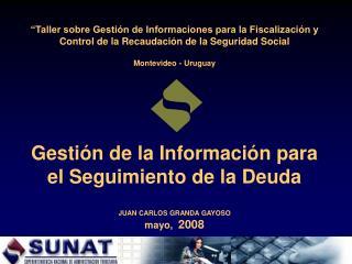 Taller sobre Gesti n de Informaciones para la Fiscalizaci n y Control de la Recaudaci n de la Seguridad Social  Montevi