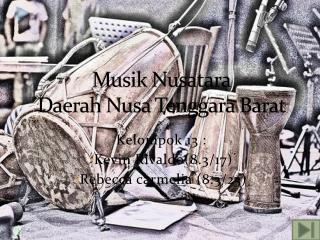 Musik Nusatara Daerah Nusa Tenggara Barat