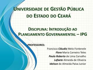 Universidade de Gestão Pública do Estado do Ceará