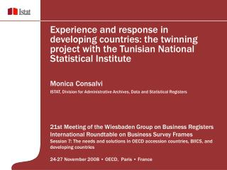 21st Meeting of the Wiesbaden Group on Business Registers -