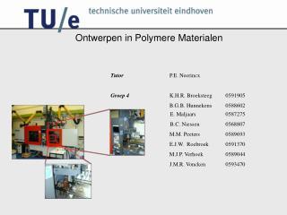 Ontwerpen in Polymere Materialen
