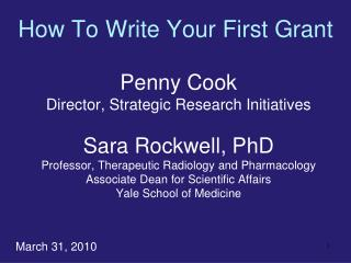How To Write Your First Grant