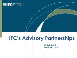 IFC's Advisory Partnerships