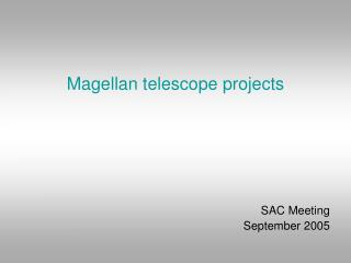 Magellan telescope projects