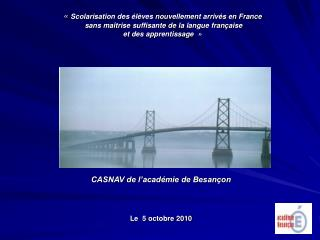 CASNAV de l'académie de Besançon Le  5 octobre 2010