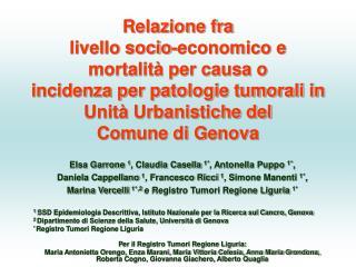 Elsa Garrone  1 , Claudia Casella  1* , Antonella Puppo  1* ,