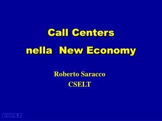 Call Centers nella  New Economy