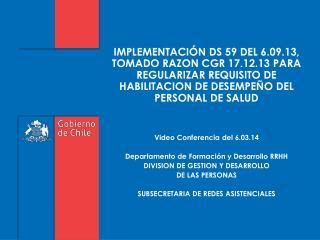 PROCESO  DE ACREDITACION  DE  PRESTADORES Y ENTRADA EN VIGENCIA DE LA LEY DE GARANTÍA DE CALIDAD