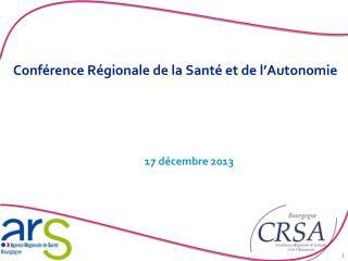 Conférence Régionale de la Santé et de l'Autonomie
