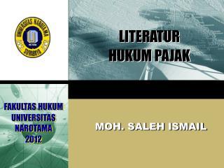 LITERATUR  HUKUM PAJAK