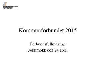 Kommunf�rbundet 2015