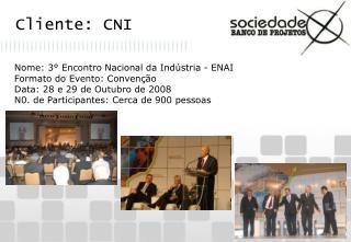 Cliente: CNI