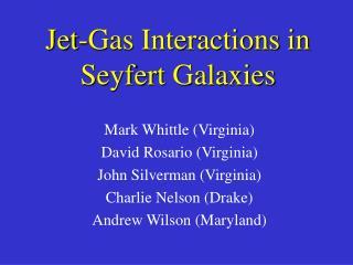 Jet-Gas Interactions in  Seyfert Galaxies
