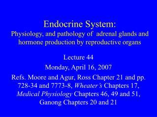 Lecture 44 Monday, April 16, 2007