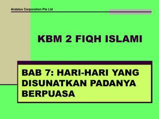 KBM 2 FIQH ISLAMI