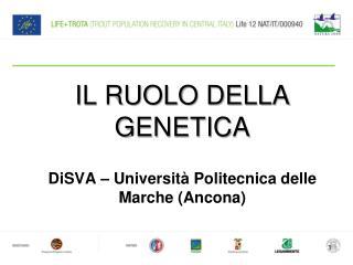 Il ruolo della genetica DiSVA – Università Politecnica delle Marche (Ancona)