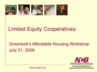 Limited Equity Cooperatives: