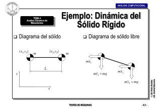 Ejemplo: Dinámica del Sólido Rígido