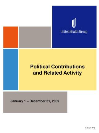 Political Contributions  and Related Activity
