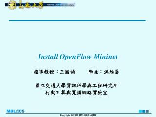 Install  OpenFlow Mininet