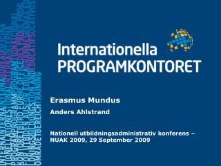Erasmus Mundus Anders Ahlstrand