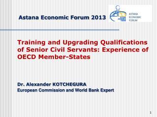 Astana Economic Forum  201 3