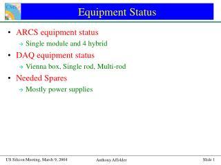 Equipment Status