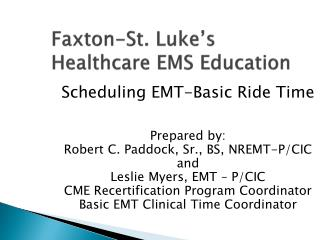 Faxton-St. Luke's Healthcare EMS Education