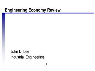 John D. Lee Industrial Engineering