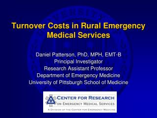 Turnover Costs in Rural Emergency Medical Services