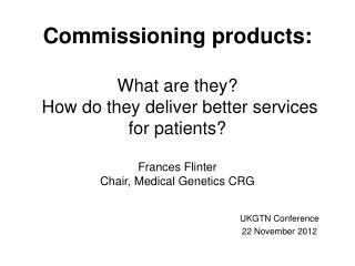 UKGTN Conference 22 November 2012