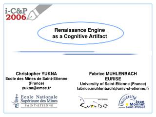Fabrice MUHLENBACH EURISE University of Saint-Etienne (France)