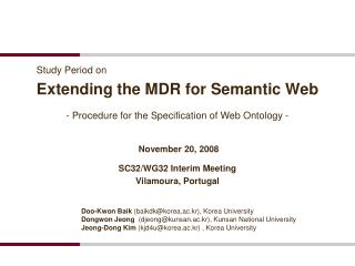 Extending the MDR for Semantic Web