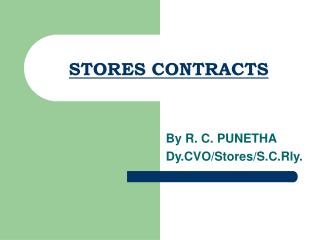 STORES CONTRACTS