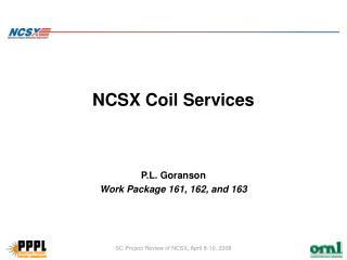 NCSX Coil Services