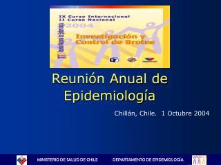 Reunión Anual de Epidemiología