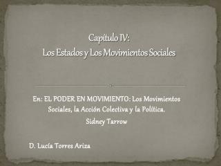 Capítulo IV: Los Estados y Los Movimientos Sociales