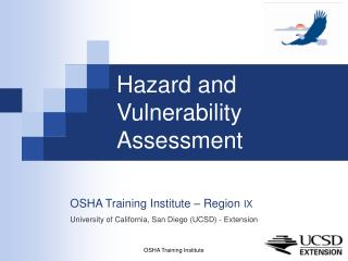 Hazard and  Vulnerability Assessment