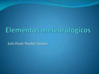 Elementos meteorológicos