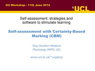 OU  Workshop : 11th June 2012