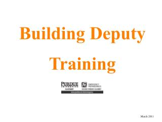 Building Deputy Training
