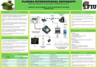 FLORIDA INTERNATIONAL UNIVERSITY Senior Design II Project Presentation